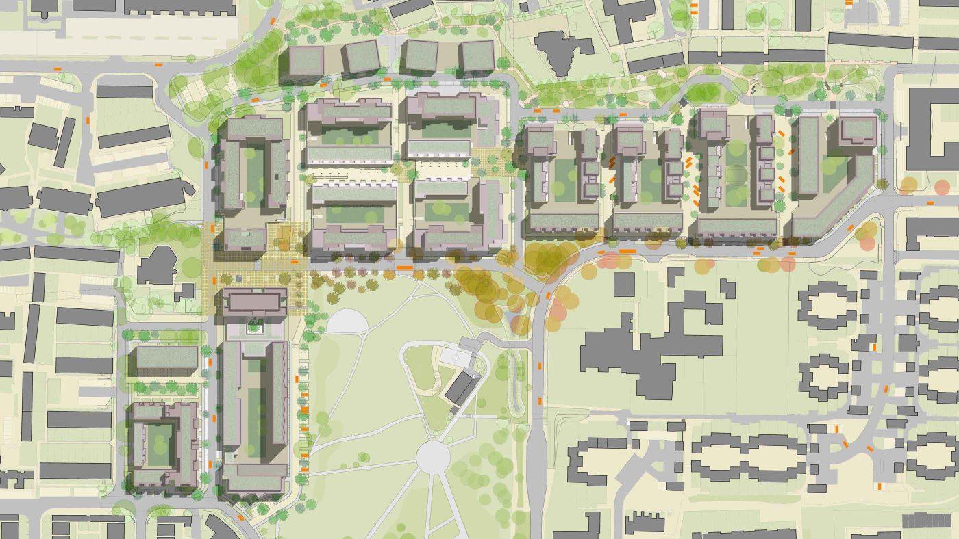 161107 Mae Architects Grahame Park Site Plan Housing Architecture Design Masterplan