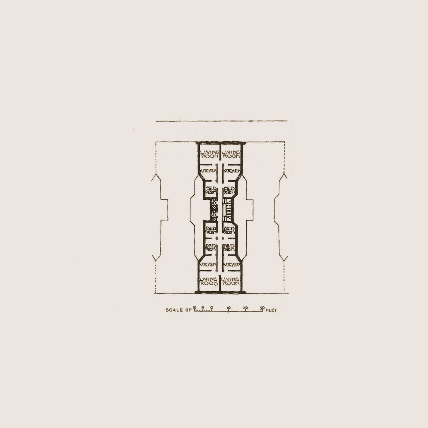 Architecture Plan Live Work Hourglass Filter