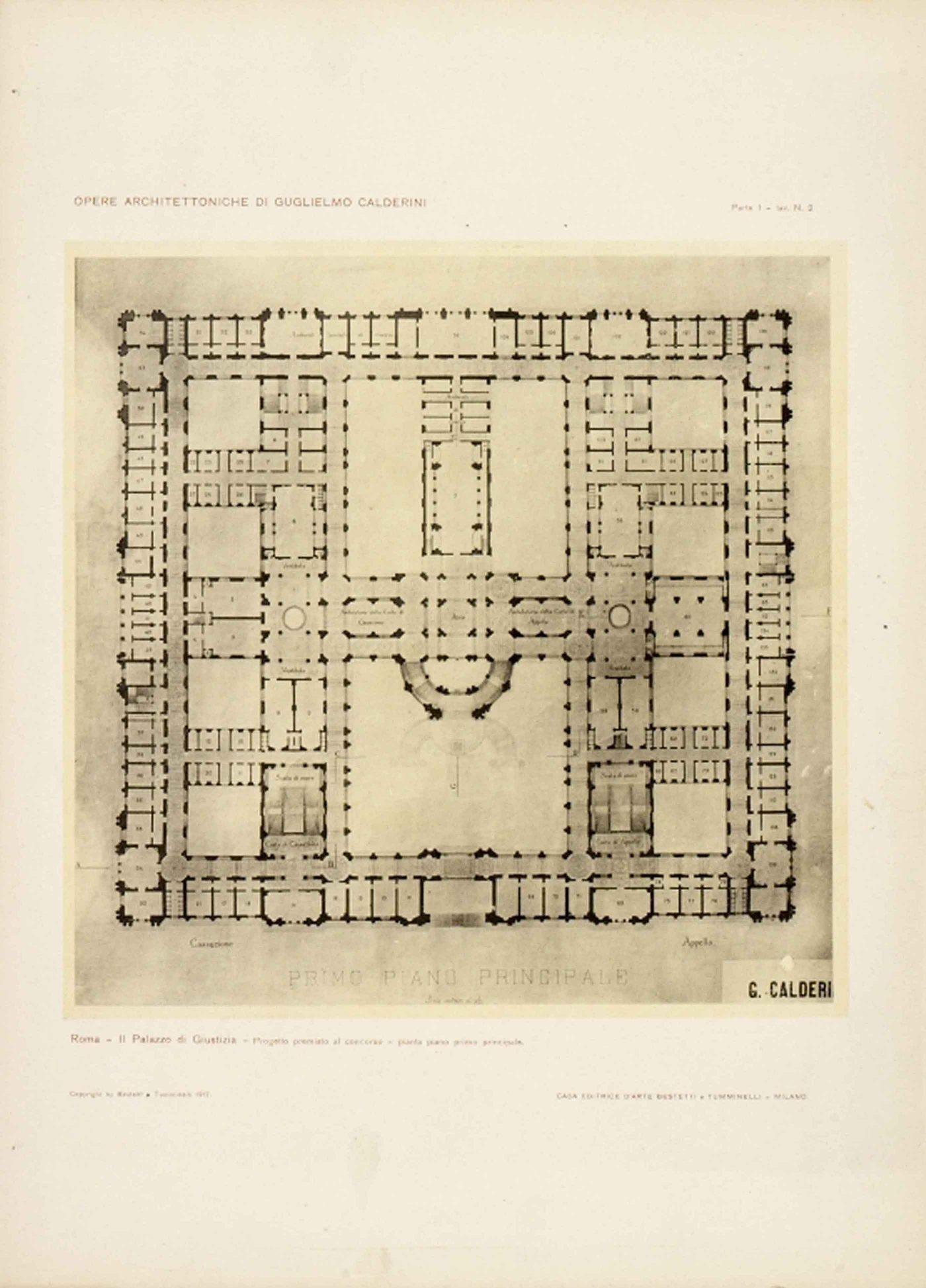 Roma Palazzo Architettoniche Di Guglielmo Calderini Sfw Crop